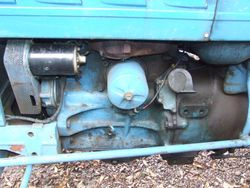 Side of the engine