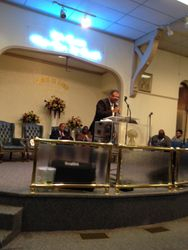 Pastor Rountree Preaching the Word of God