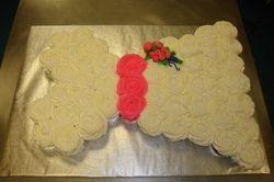 wedding dress $3/cupcake +$7 flower bouquet