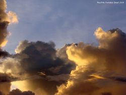 Golden clouds during sunset