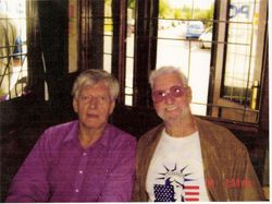 Dave prowse MBE and Joe Sands