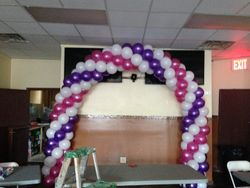 Purple, Pink and White Balloon Arch