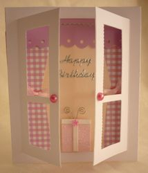 Window Card Birthday Gift