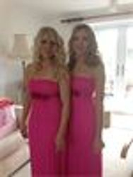 Elles pretty bridesmaids had curls with a twist and the side