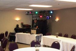 Our set up for a small room on very short notice
