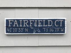Fairfield, CT sign w/ starfish