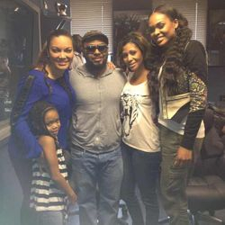 Egypt, Musiq Soulchild, Demetria McKinney & A Friend At The V103 Studio on August 15, 2013
