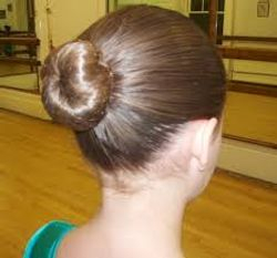 Hair worn correctly in a bun