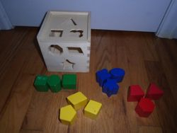 Melissa & Doug Wooden Shape Sorting Cube - $12