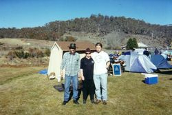 2000 henning, Maureen & Eli at their camp