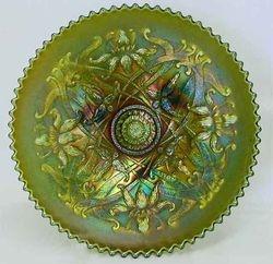 Wishbone plate in green