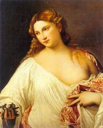 """Titian Painting from the Renaissance, """"Flora"""""""