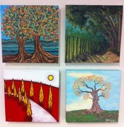Study of trees - Autumn, Summer, Winter, Spring