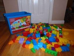 MegaBloks- Quantity of 255 with Tub - $50