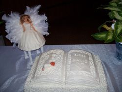 Baptism_ Baby with Guardian Angel Cake