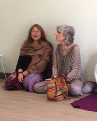 Nadine with her Yoga Teacher Sandra Sammartino