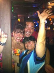 "Feeling ""happy"" (wink) at Carmen & Patty's Birthday Celebration (502 Bar Lounge's Social Saturday Karaoke Night)!"
