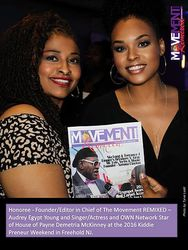 Egypt and Demetria McKinney attend KiddiePreneur Recognition Event - iPlay America