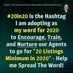 #20in20 - Let's Create and Control the Real Estate Inventory in 2020...