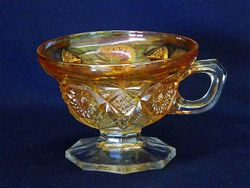 Regal handled & ftd sherbet - marigold, US Glass