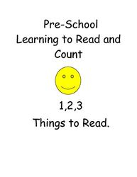 Pre-School Learning to Read and Count