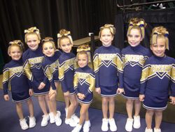 Pacers Cheer Pals ready to peform.