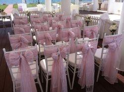 Chiavari chairs at Ceremony venue.