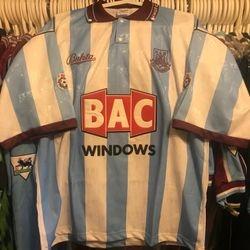Tim Breaker 1991/92 away shirt.