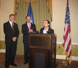 Congressman Eliot Engel, Congresswoman Jean Schmidt and Ambassador Avni Spahiu