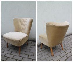 Vintazinis foteliukas. 1950 m. cocktail chair stiliaus. Kaina 132 Eur.