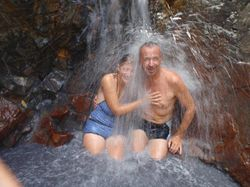 A shower at the hot springs!