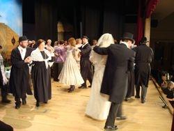 Men and women dancing .......