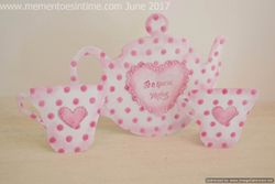 Spotty Teapot and Teacups