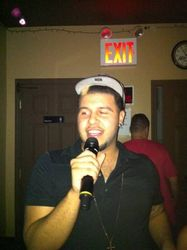 Giovanni also singing with us for the first time at 502 Bar Lounge's Social Saturday Night Karaoke