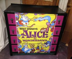 Alice in Wonderland vintage poster drawers