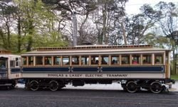 Side profile shot of No. 7 at Laxey.