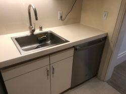 Installed dishwasher