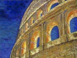 Roma Coliseum at Night - Rome, Italy