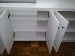 Radiator cover - storage shelves