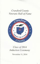 Crawford County Veterans Hall of Fame 2014