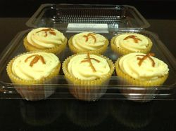 Screwdriver Cupcakes with Orange zest Cream Cheese Frosting
