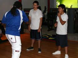 Roland Richards training Alex and Mario Lopez