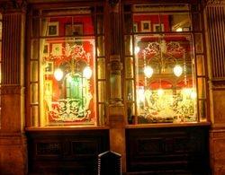 A London pub windows
