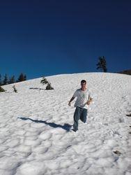 Ian running in snow