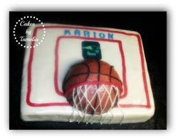 Basket Ball and Goal Cake