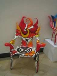 Flame armchair