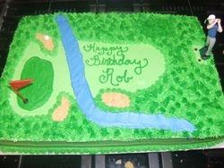 3D Golf Course Cake