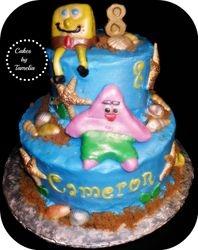 Sponge Bob and Patrick  cakes