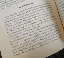 A little about Spiritualism from the book Spirit & Spa