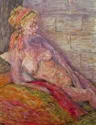 contemplating nude